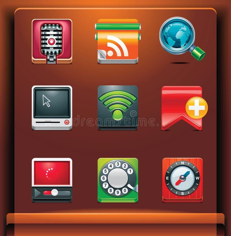 komunikacyjne ikony royalty ilustracja