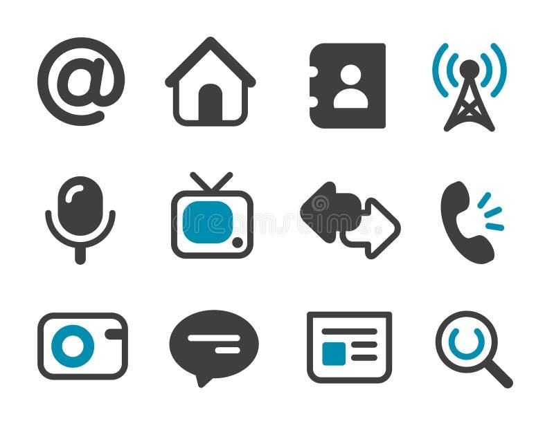komunikacyjne ikony ilustracja wektor