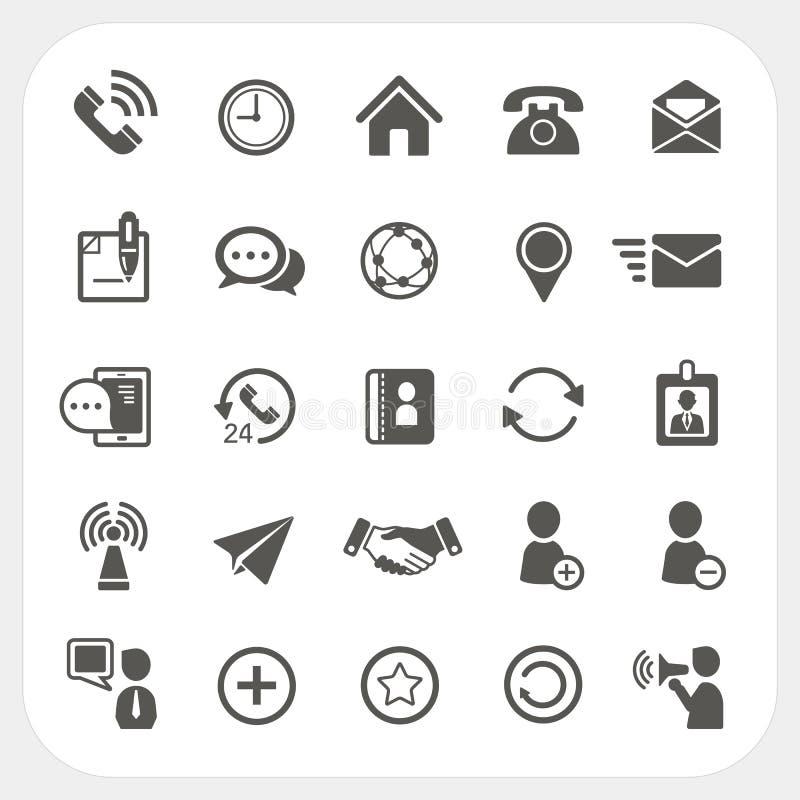 Komunikacyjne ikony ustawiać ilustracja wektor