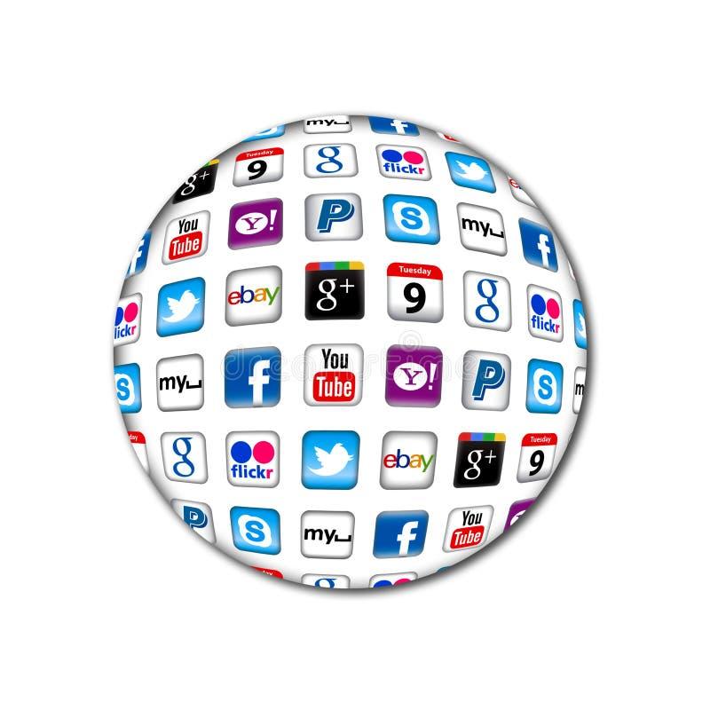 Komunikacyjny Apps nowy bąbel ilustracji