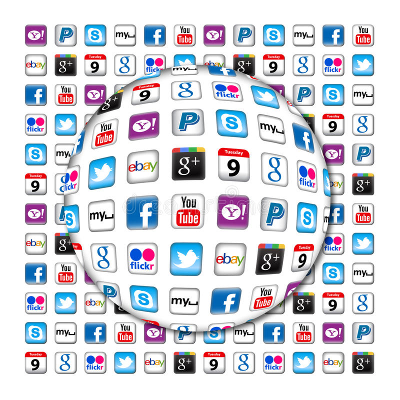 Komunikacyjny Apps nowy bąbel royalty ilustracja