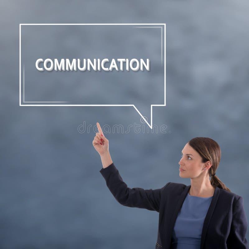 Komunikacyjny biznesowy pojęcie kobieta jednostek gospodarczych obrazy stock