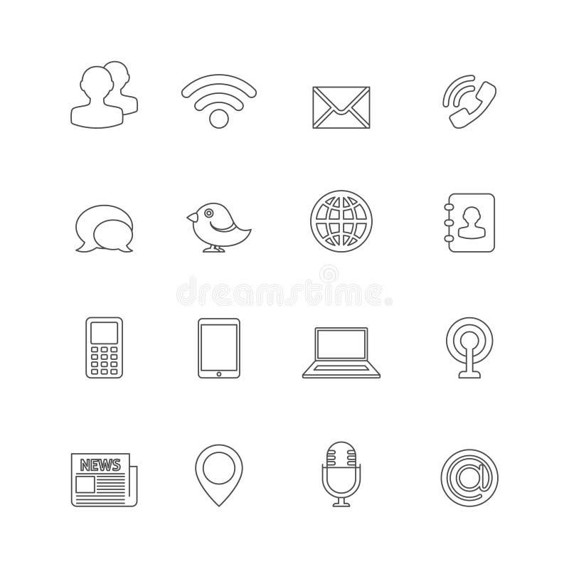 Komunikacyjny ikona kontur ilustracja wektor