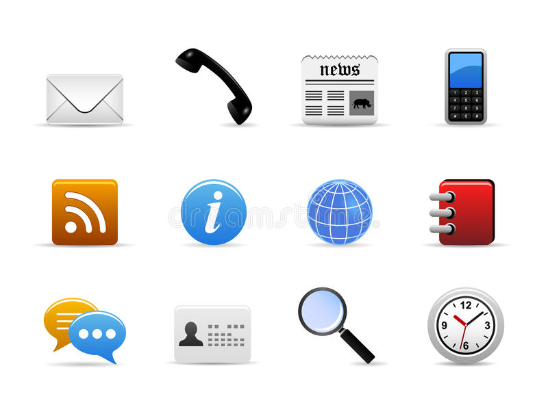 komunikacyjny ikony środka wektor