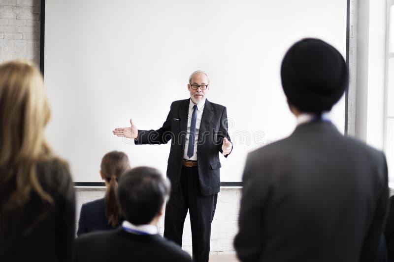Komunikacyjny Konferencyjny spotkanie prezentaci konwersatorium pojęcie zdjęcie stock