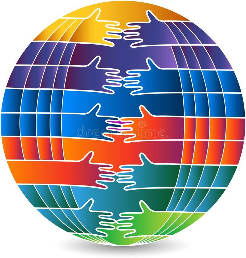 Komunikacyjny kula ziemska logo ilustracji