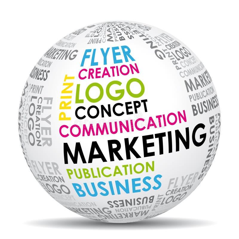 komunikacyjny marketingowy świat royalty ilustracja
