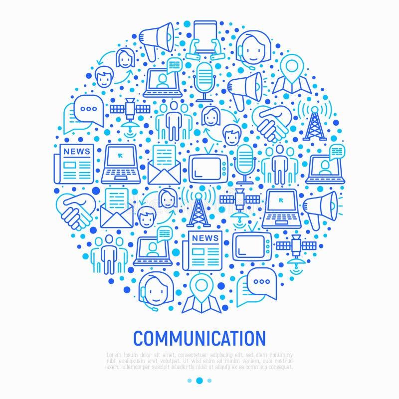 Komunikacyjny pojęcie w okręgu royalty ilustracja