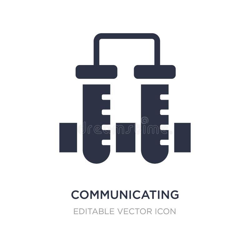 komunikować naczynie ikonę na białym tle Prosta element ilustracja od edukacji pojęcia ilustracji