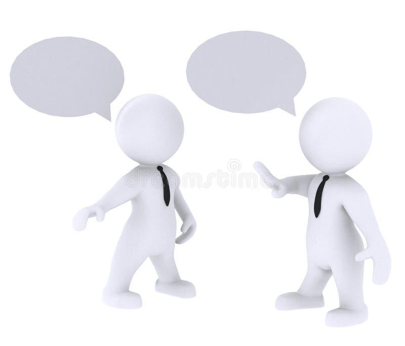 Komunikuje i rozmawia ilustracja wektor