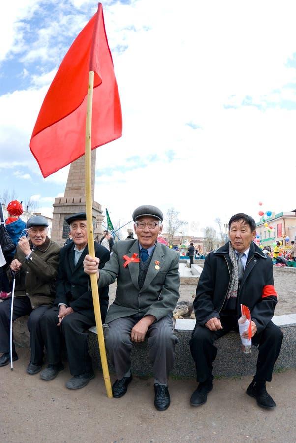 komunistyczna demonstracja zdjęcie stock