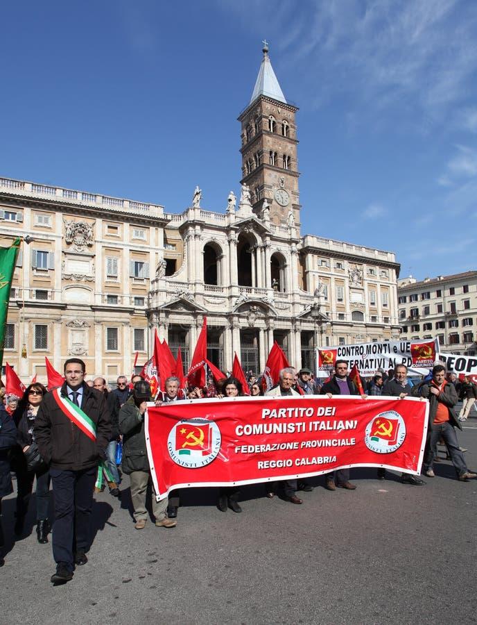 komunistyczny demonstraci włocha przyjęcie obraz royalty free
