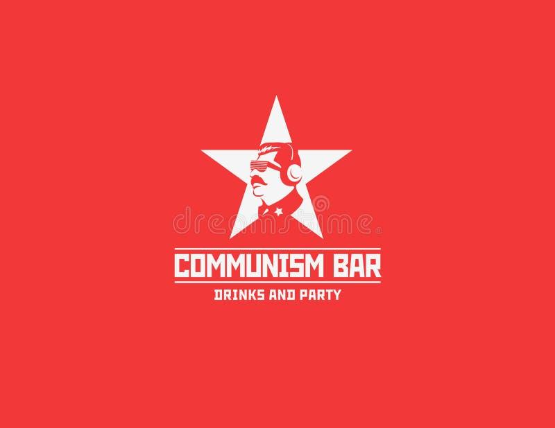 Komunizmu loga restauraci stylowy bar royalty ilustracja