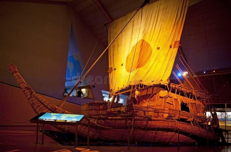 Kon-Tiki Museum. OSLO, NORWAY - AUGUST 27, 2016: The Ra II in the Kon-Tiki Museum in Oslo royalty free stock photography