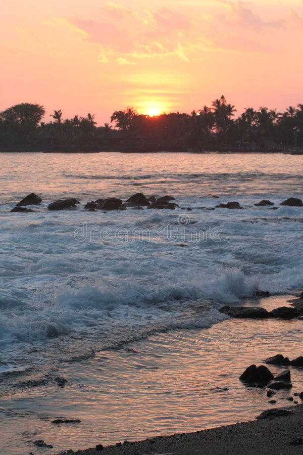 Download Kona Sunset stock image. Image of heaven, peace, rock - 6242827