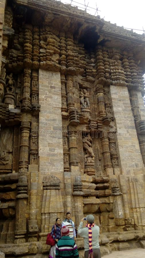Konarak tempel pic3 royaltyfri foto