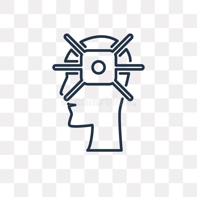 Koncentracyjna wektorowa ikona odizolowywająca na przejrzystym tle, li ilustracja wektor