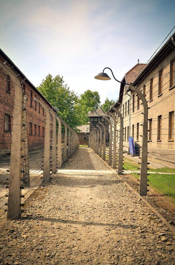 Koncentracyjny obóz w Oswiecim, Polska obraz stock