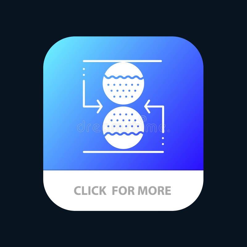 Koncentration kontroll som är effektiv, knapp för App för sandklocka mobil Android och IOS-skåraversion stock illustrationer