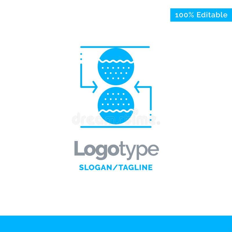 Koncentration kontroll som är effektiv, sandklockablått fasta Logo Template St?lle f?r Tagline stock illustrationer