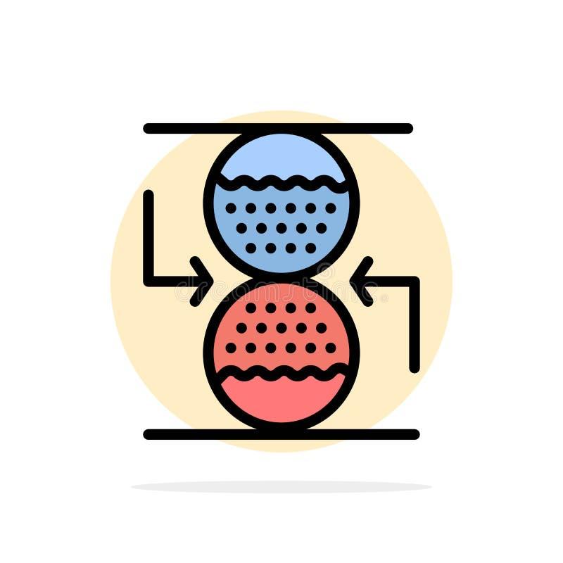Koncentration kontroll som är effektiv, symbol för färg för bakgrund för cirkel för sandklockaabstrakt begrepp plan vektor illustrationer