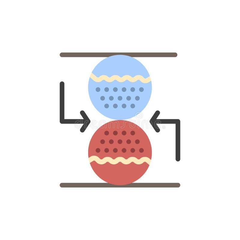 Koncentration kontroll som är effektiv, symbol för färg för sandklocka plan Mall för vektorsymbolsbaner stock illustrationer