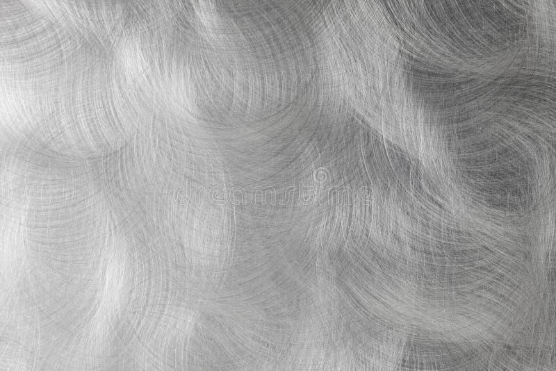Koncentriskt borstat stålark, bakgrund royaltyfria bilder