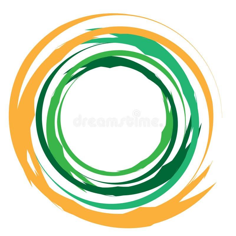 Koncentriskt/grungande cirkelcirkelelement Radiell, utstrålad texturerad/cirkelformad, cirkelform stock illustrationer