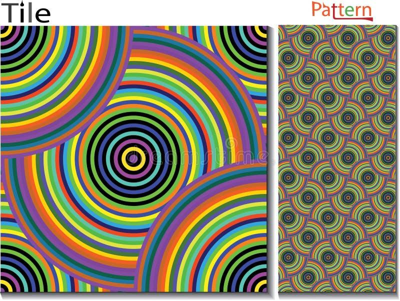 Koncentriskt ringer abstrakt bakgrund dator frambragd head mantråd royaltyfri illustrationer