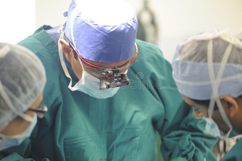 Koncentrować chirurgów wykonuje operację zdjęcia stock