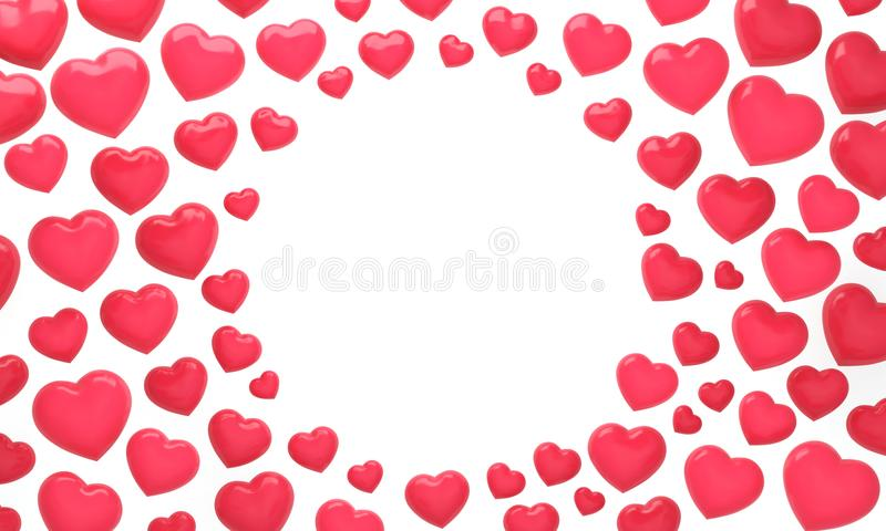 Koncentryczna Czerwona serce etykietka zdjęcie stock