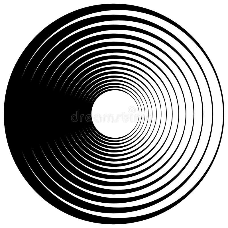 Koncentryczny okrąg, pierścionki Stosowny jako abstrakcjonistyczny projekta element ilustracja wektor