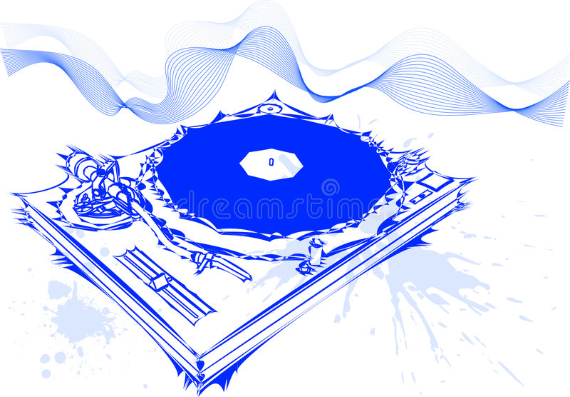 koncepcja dj ilustracja wektor