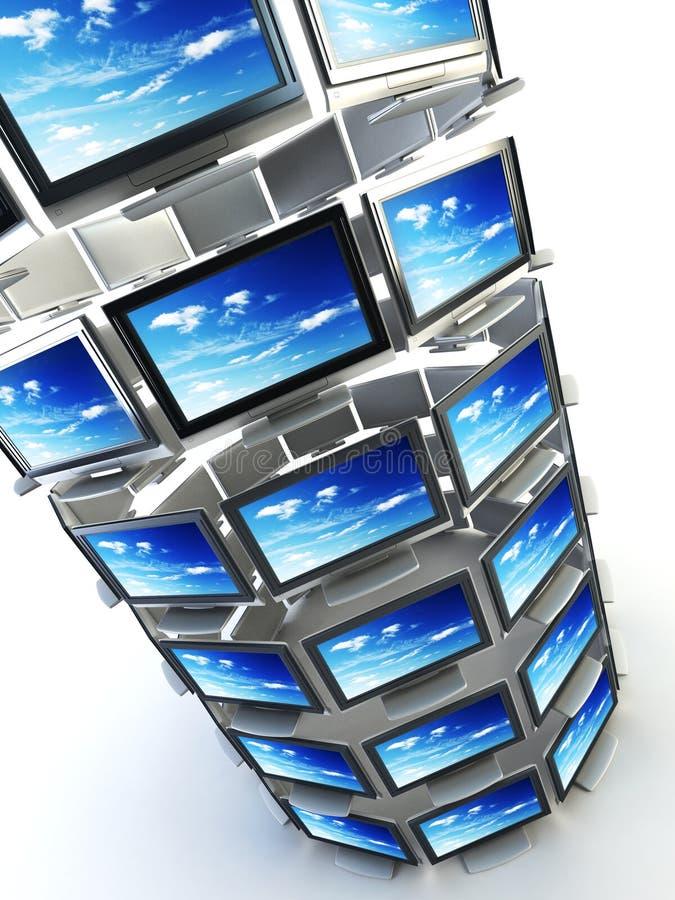 koncepcja globalna tv ilustracja wektor