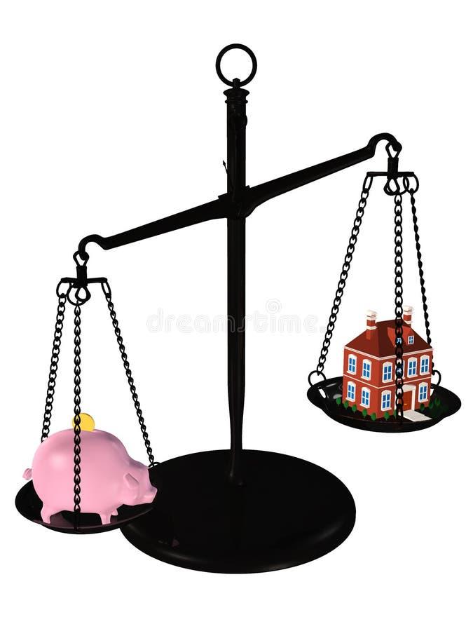 koncepcja hipoteki nieruchomości real zdjęcie stock