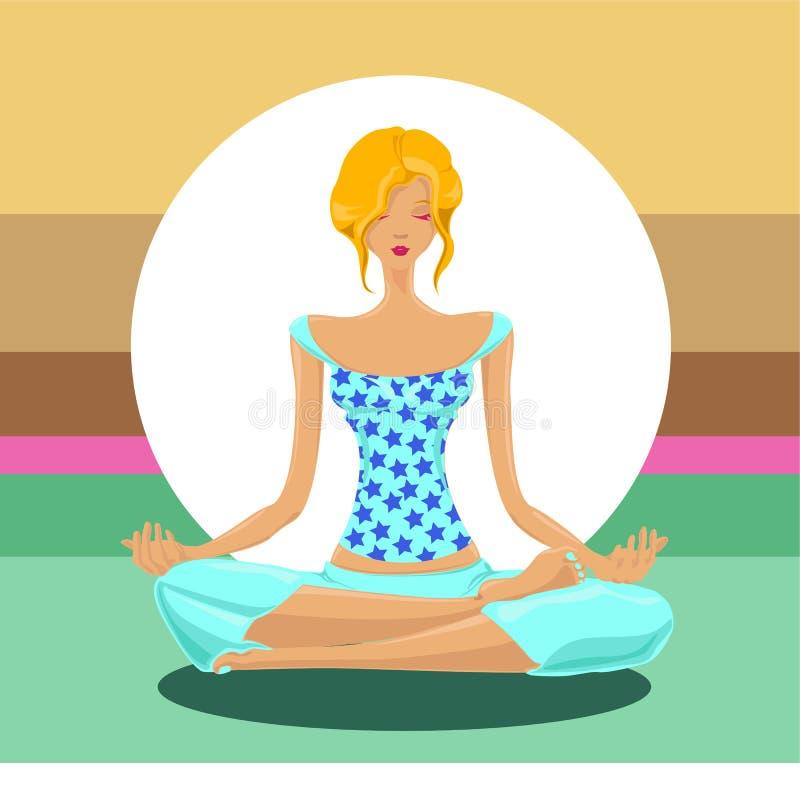 koncepcja jogi wektora ilustracja wektor