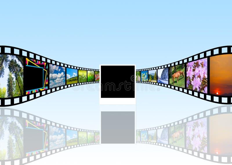 koncepcja kinematograficznej branży filmowej roll ilustracji