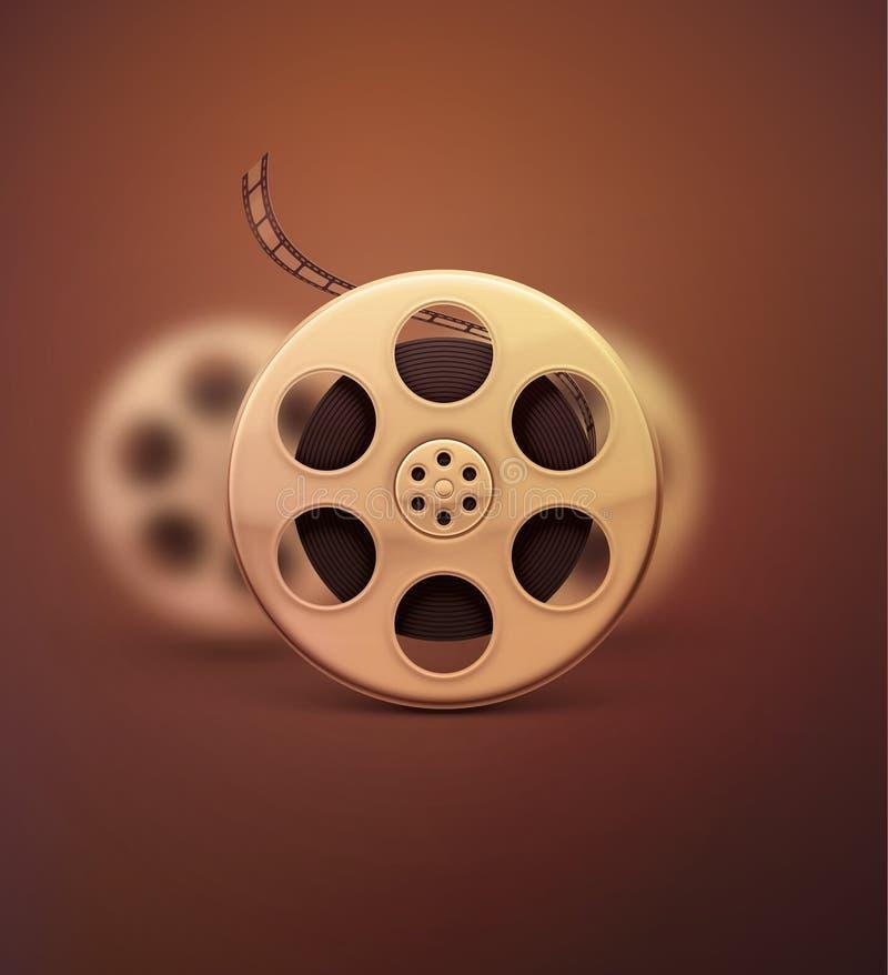 koncepcja kinematograficznej branży filmowej roll royalty ilustracja