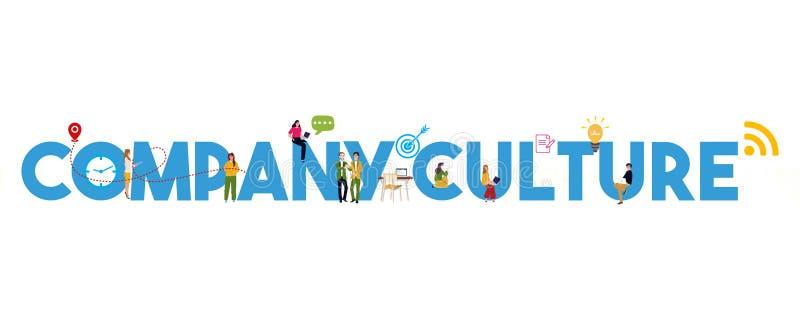 Koncepcja kultury firmy dotycząca podstawowych wartości korporacyjnych motywacja pracowników ilustracja wektor