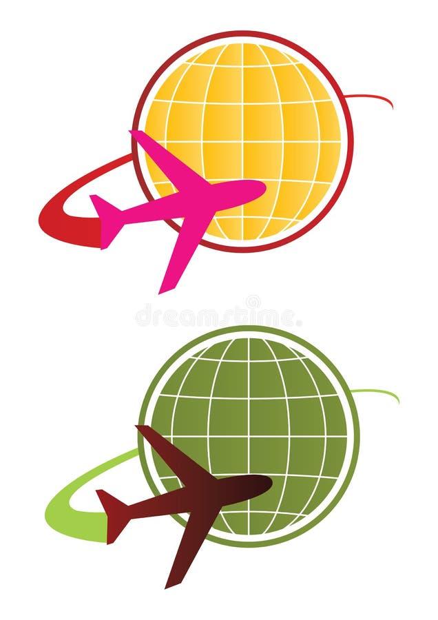 koncepcja logo podróży wektora ilustracji