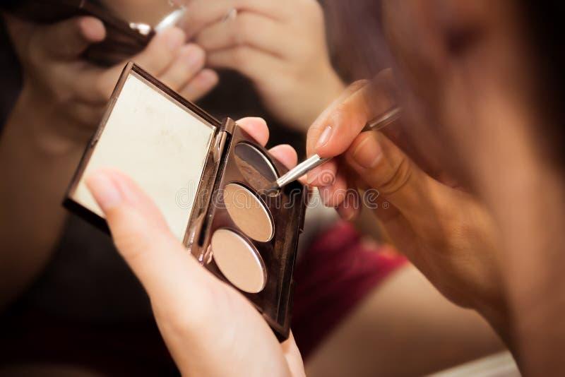 koncepcja mody makijaż modelu kobieta zdjęcia stock