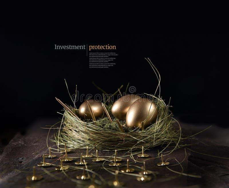 Koncepcja ochrony inwestycji finansowych obraz royalty free