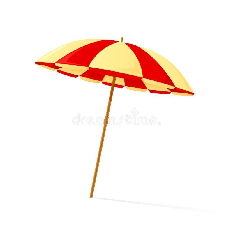 koncepcja plażowy wakacje parasolkę ilustracja wektor