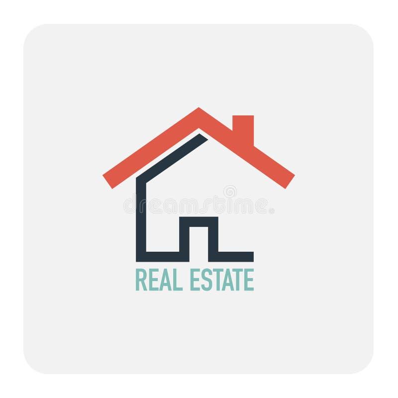 koncepcja real nieruchomości Domowa ikona royalty ilustracja