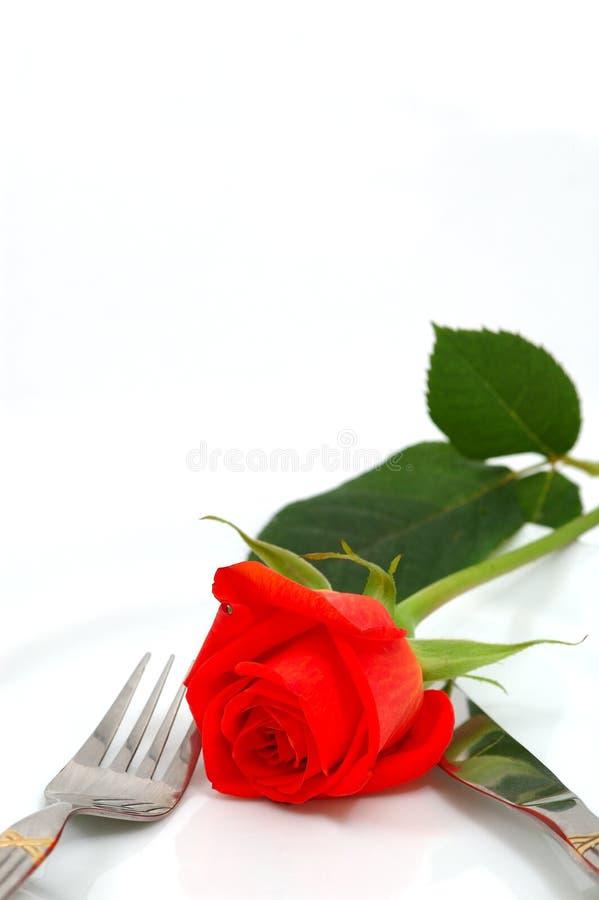 koncepcja romantyczny obiad fotografia royalty free