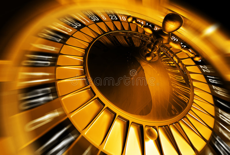 koncepcja ruletka złota ilustracji
