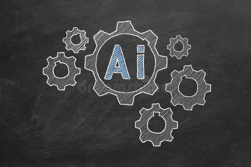 Koncepcja sztucznej inteligencji zdjęcia royalty free