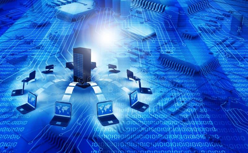 koncepcji technologii informatycznych sieci szeroki świat royalty ilustracja