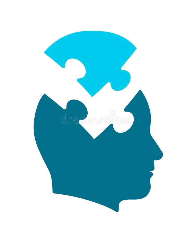 Konceptualna ikona głowa dla psychologii i umysłu royalty ilustracja