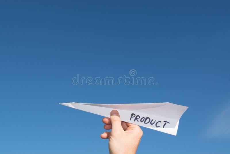 Konceptualna ilustracja wszczynać nowego produkt zdjęcia royalty free